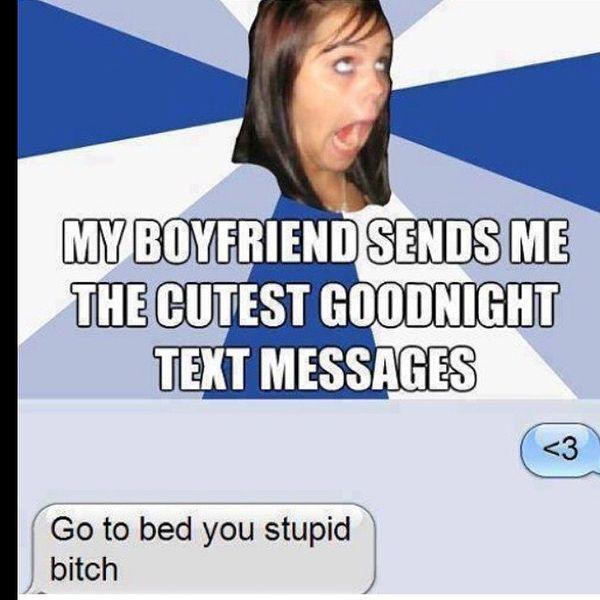 Мой парень отправляет мне текстовые сообщения Citest Goodnight ...