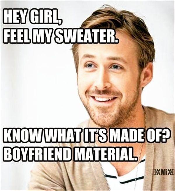 Эй, девочка, почувствуй мой свитер ...