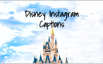 91 Instagram Captions For Disney World
