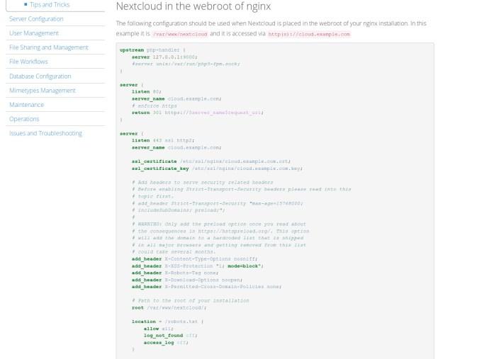 Nextcloud Nginx Configuration