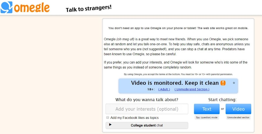 Random chats sites