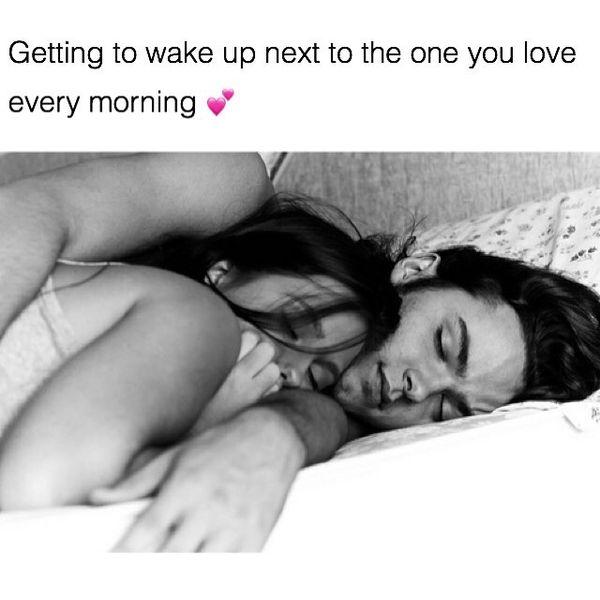 Cute couples sleeping meme