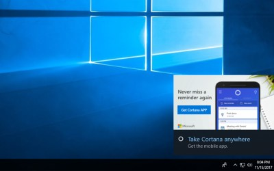 windows 10 cortana notifications
