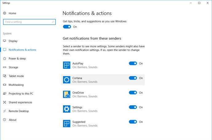 windows 10 notification settings