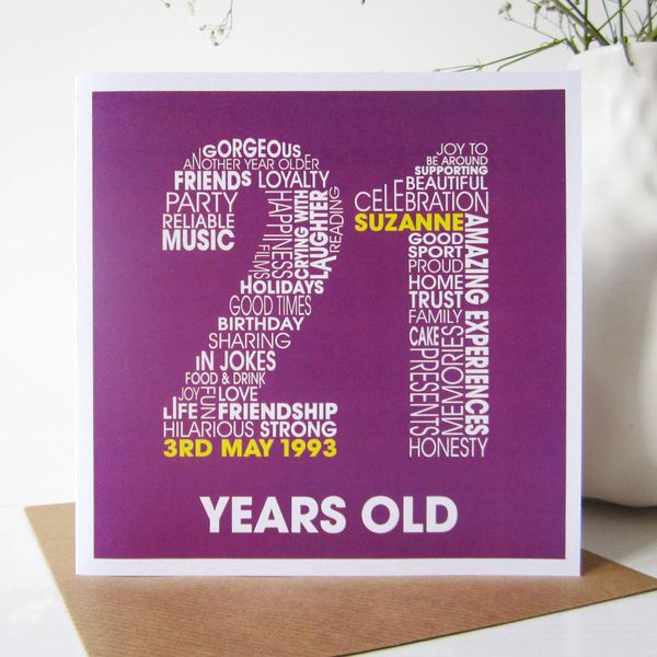 Beautiful images of 21st birthday cards