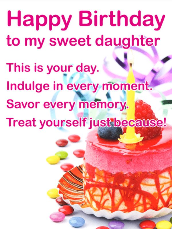 Happy birthday greetings to your beloved daughters