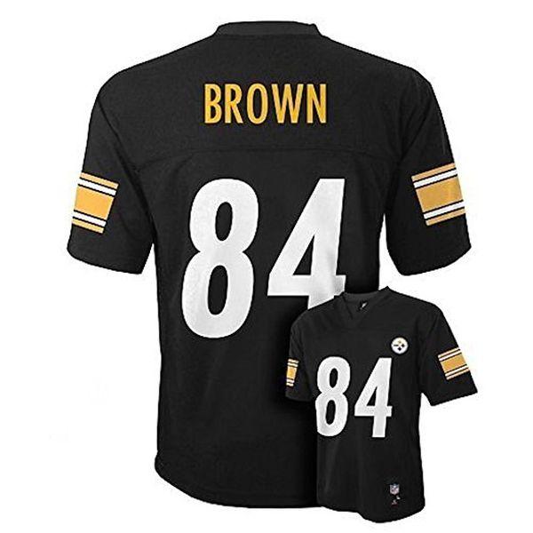 Antonio Brown Pittsburgh Steelers NFL Toddler Black Home Mid-tier Jersey