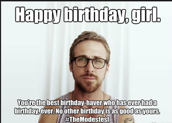 Awesome Interesting Happy Birthday Meme for a Girl