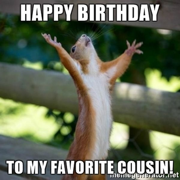 Awesome Happy Birthday Cousin Meme