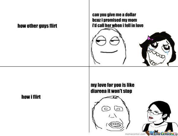How other guys flirt. How I flirt