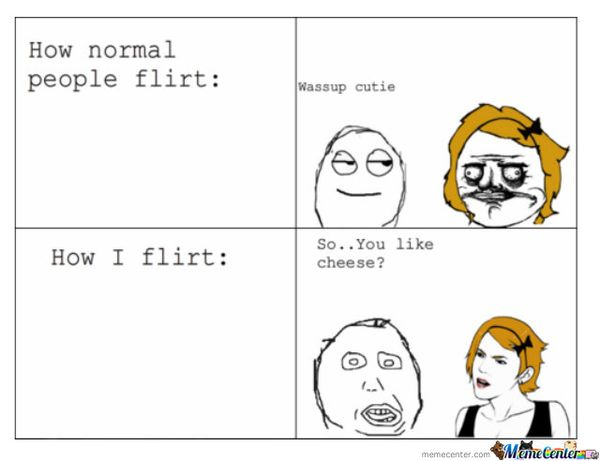 How normal people flirt: The Cutie Wassap