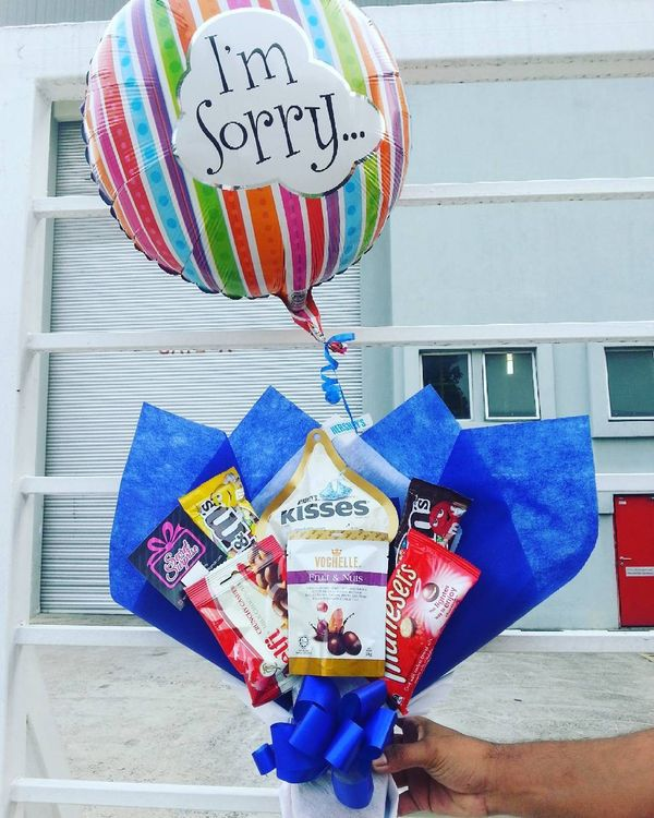 Sorry Message on Balloon with Sweets