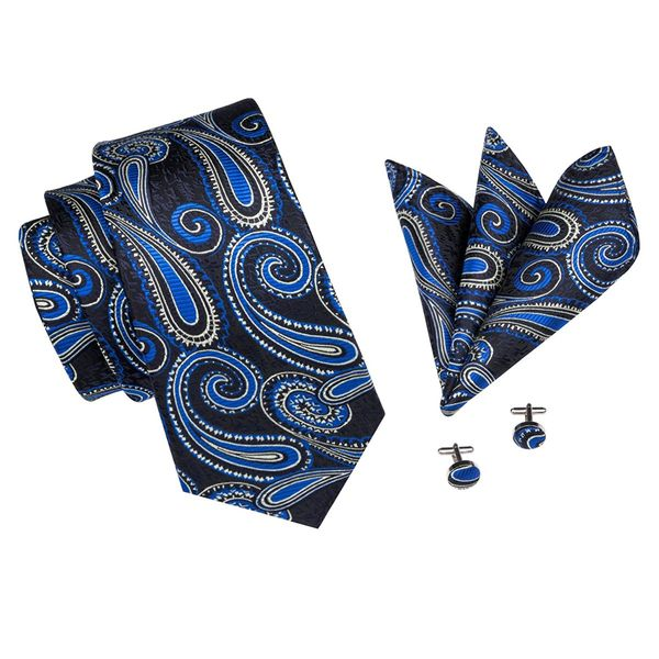Mini Set: Necktie, Handkerchief & 2 Cufflinks