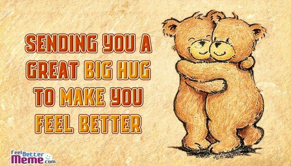 Startling big hug meme