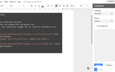 How to Add Syntax Highlighting to Source Code in Google Docs