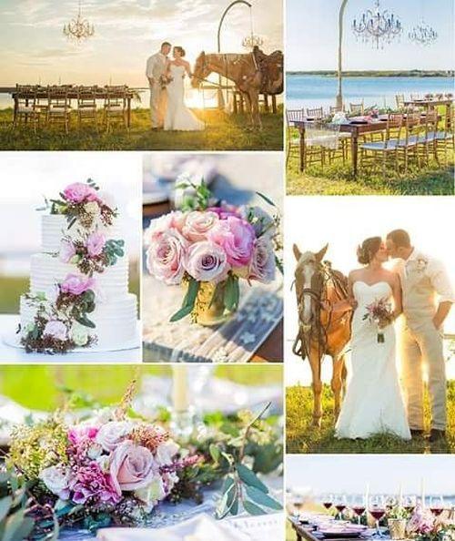 collage of wedding photos