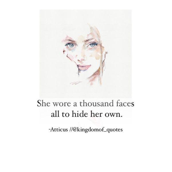 Она носила тысячу лиц, чтобы скрыть свое