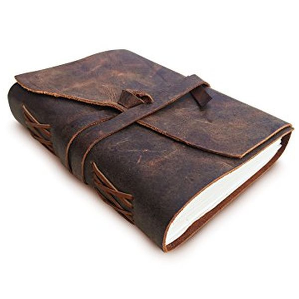 Antique Handmade Leather Notepad