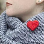 Handcrafted Felt Heart Pin