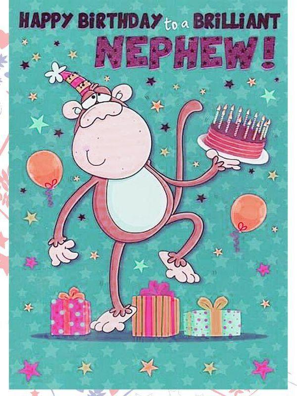 Monkey festive happy birthday cousin images