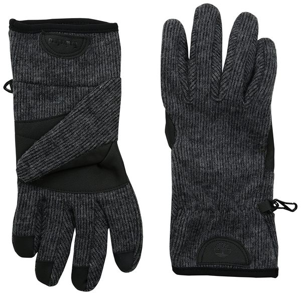 Timberland Mens RibbedKnit WoolBlend Glove with Touchscreen technology