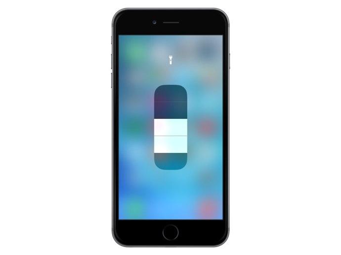 iphone flashlight brightness