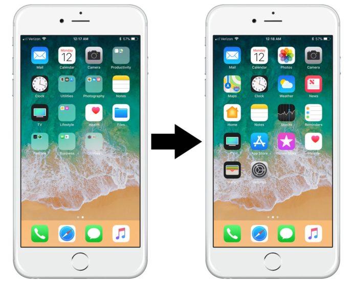 iphone reset home screen