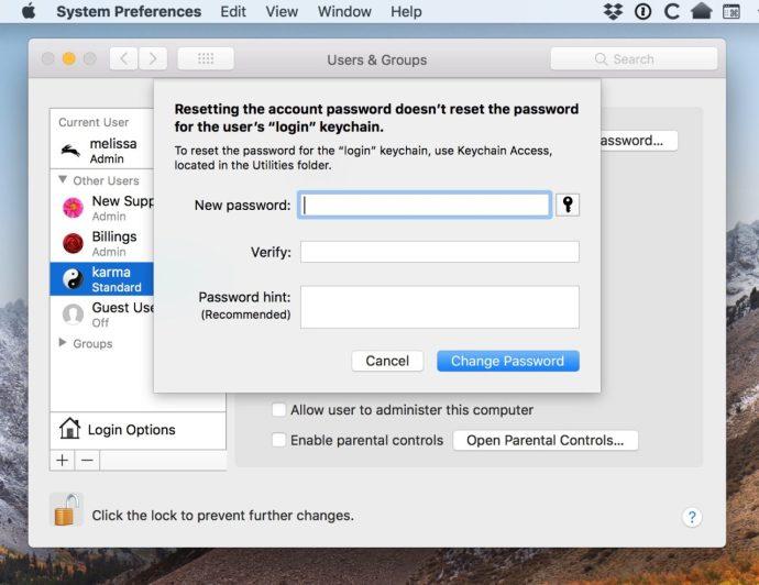 Enter New Account Password