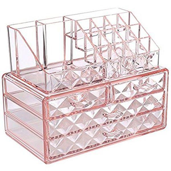 Ikee Design Pink Jewelry Cosmetic Storage