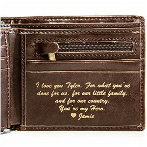 Leather Wallet with Engraving