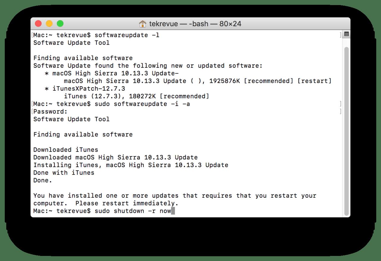 How to Run Mac Software Update via the Terminal