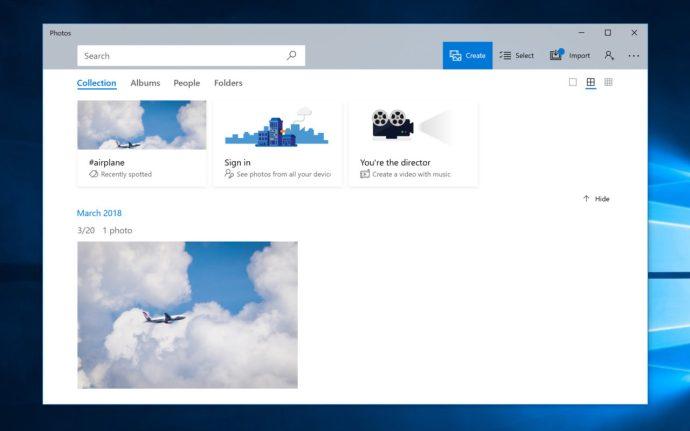 windows 10 photos library light mode