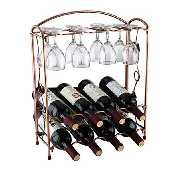 Elegant Wine and Glass Rack