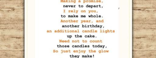 Fantastic Birthday Poem for Husband and Father to Show Your Affection