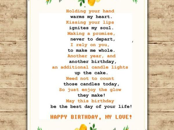 Super Birthday Poems For Husband Personalised Birthday Cards Paralily Jamesorg