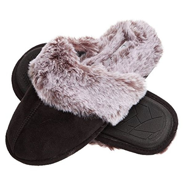 Jessica Simpson Faux Fur Slippers