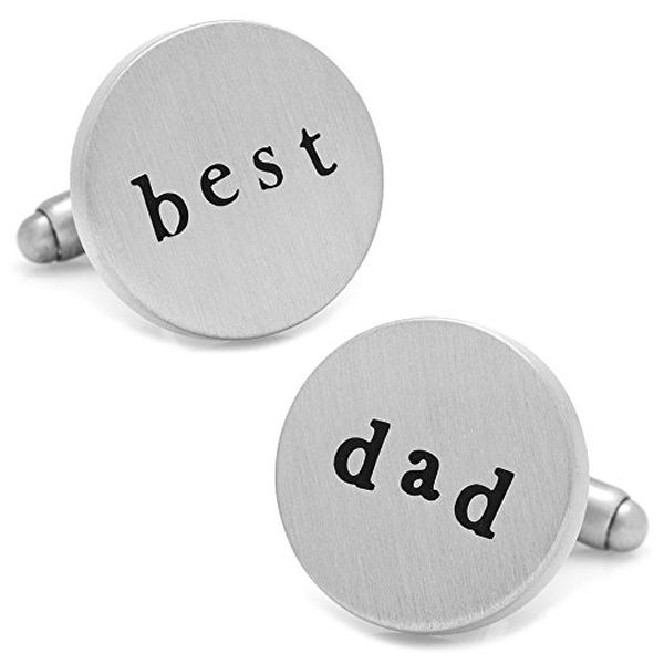 Silver Best Dad Cufflinks