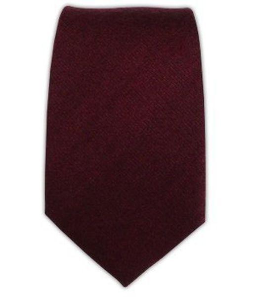 The Tie Bar Wool Burgundy 3 inch tie