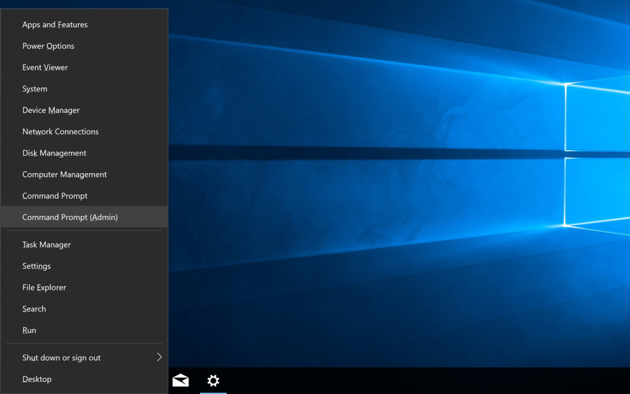 Replace Command Prompt with PowerShell in the Windows 10