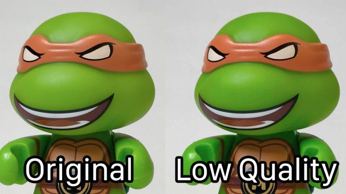 iphone low quality image mode comparison