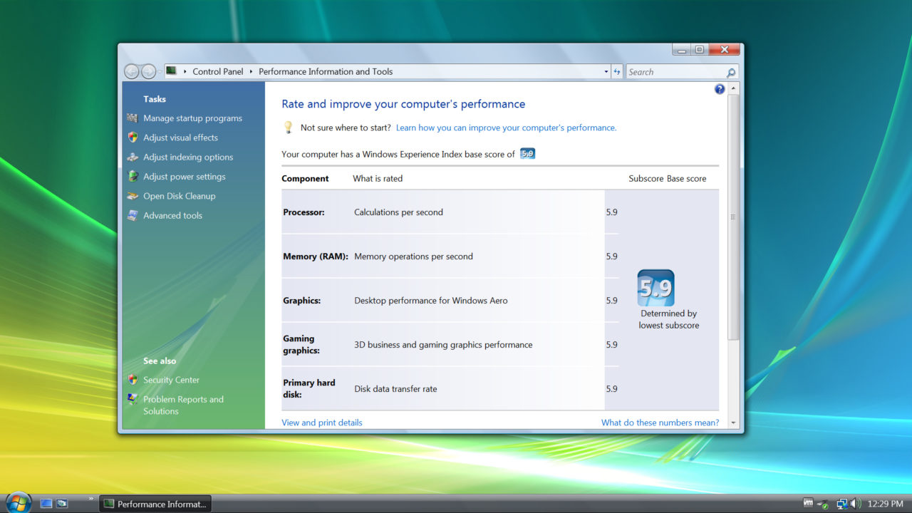 How to See Your PC's Windows Experience Index Score in