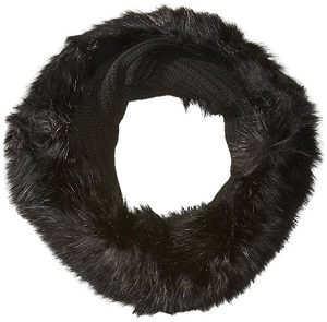 Armani Exchange Women's Wool Tube Scarf With Faux Fur Trim