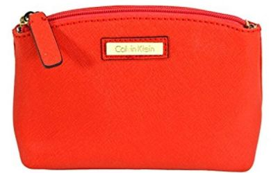 Calvin Klein Leather Cosmetic Case