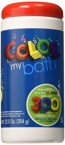 Color My Bath Color Changing Bath Tablets 300Piece