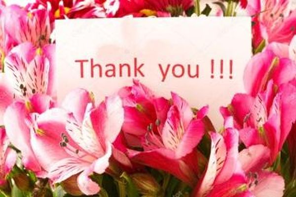 Fantastic colorful thank you images with flowers