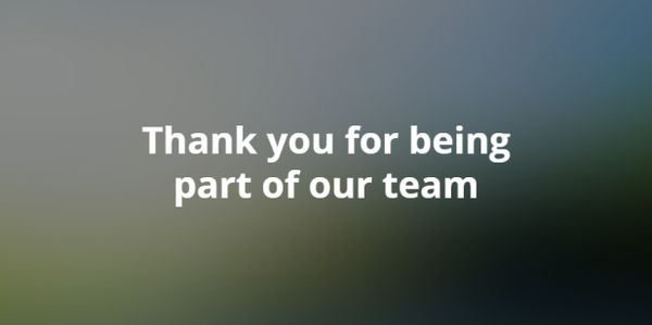 Super friendly thank you photos for your team