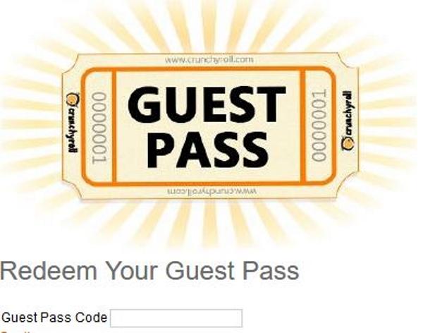 How To Get a Crunchyroll Guest Pass