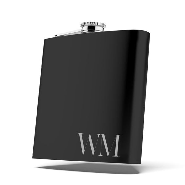 Personalized Matte Black Flask
