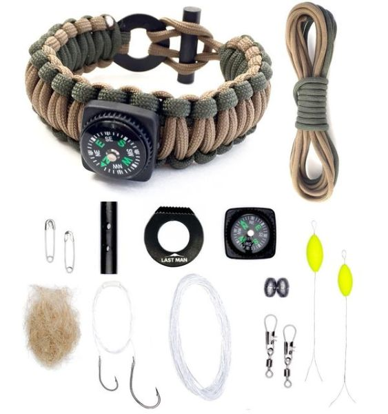 The Ultimate Paracord Survival Kit Bracelet by Last Man