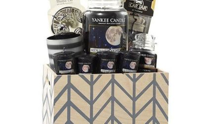 Yankee Candle Crate Chevron Basket Gift Set